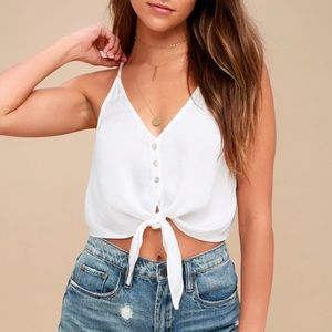 Free people two tie for you brami top in ivory